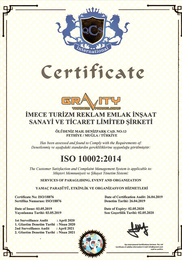 FLYGRAVITY_CERTIFICATE_ISO_10002_2014
